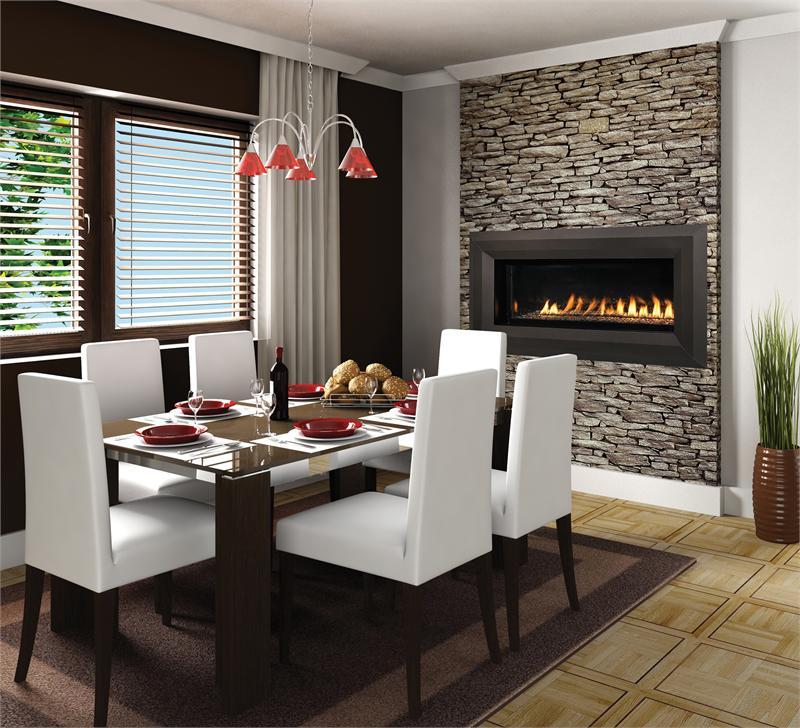 Superior 43 VRL4543 Paris Lights Linear Vent Free Fireplace IHP FMI LVF43